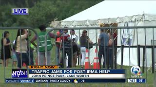 More long lines on Day 2 at food assistance sign up sites in Palm Beach County - Video