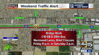 Weekend traffic alert: Road closures - Video