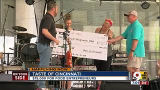 Food entrepreneurs get big donation - Video