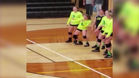 Ball Interrupts Girl's Dance Routine