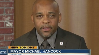 Denver Mayor Michael Hancock promises to keep city safe, welcoming - Video