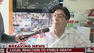 Tampa Cubans react to Fidel Castro's death - Video