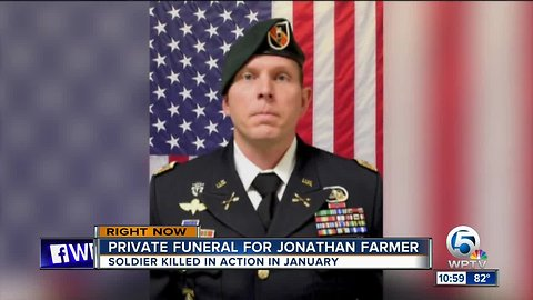 Funeral services held for Palm Beach County soldier killed in Syria
