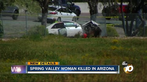 San Diego woman fatally stabbed after crash on 101 in Arizona