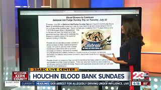 Houchin Blood Bank free Ice Cream