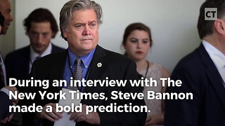 Bannon Makes Bold Prediction - Video