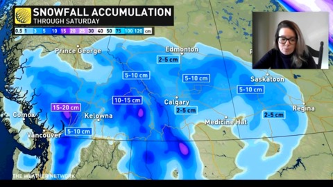 A snowy weekend for many on this April weekend in the West