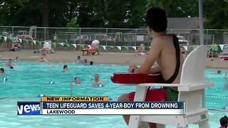 Teen lifeguard saves 4-year-old, first day on the job - Video