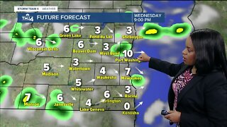 Scattered showers possible Wednesday evening, clearing overnight