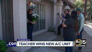 Chandler teacher wins new A/C unit - Video