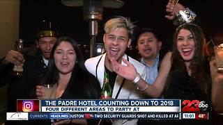 Downtown Bakersfield center of New Year's Eve party - Video
