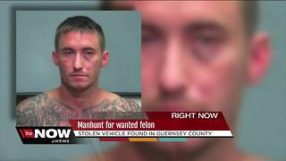 Manhunt for wanted felon, stolen vehicle found in Guernsey County - Video