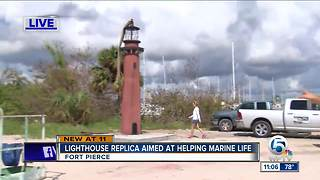 Lighthouse replica aimed at helping marine life - Video
