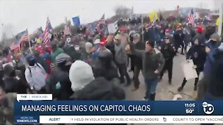 Managing feelings on capitol chaos