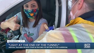 Valley teachers talk vaccine, 'Light at the end of the tunnel'