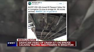 MDOT plans to demolish I-96 bridge after crash - Video