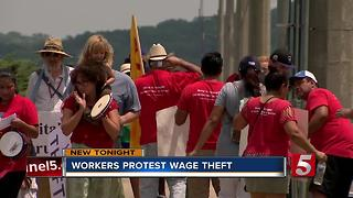 Nashville Workers Protest Wage Theft; Company Responds - Video