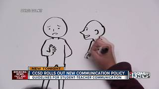 CCSD rolls out student-employee communication policy - Video