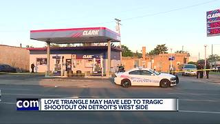 Two men shot and killed during shootout outside of Detroit gas station - Video