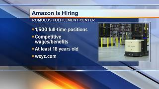 Amazon hiring for 1,500 positions at Romulus Fulfillment Center - Video