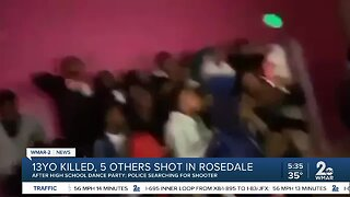 13--year-old killed, 5 others shot in Rosedale