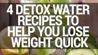 4 detox water recipes for wight loss