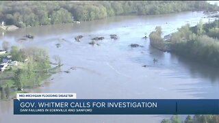 Gov. Whitmer calls for investigation into mid-Michigan flooding