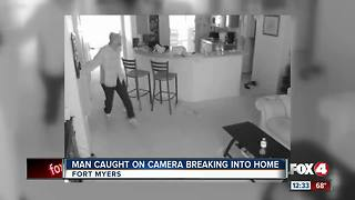 Man Caught on Camera Breaking into Home - Video