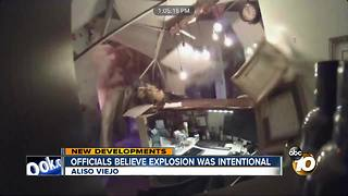 Officials believe explosion was intentional