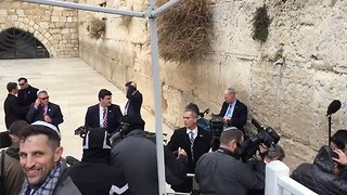 Female Journalists Segregated, 'Stuck in a Pen' for Pence Western Wall Visit - Video