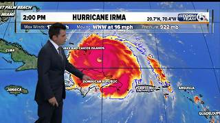 Hurricane Irma 2pm update: 9/7/17 - Video
