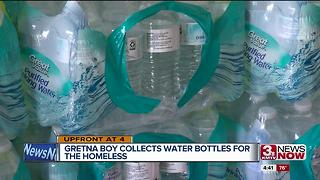 Gretna boy collects water bottles for homeless - Video