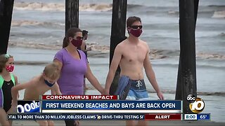 First weekend San Diego beaches, bays are back open