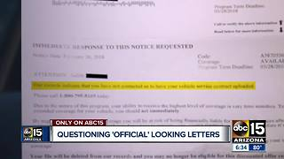 What to do when a suspicious letter looks official - Video
