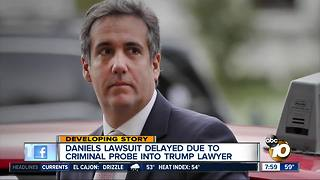 Stormy Daniels lawsuit on hold - Video