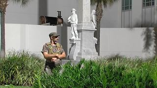 Process begins to remove Confederate statue from downtown Tampa | Digital Short - Video