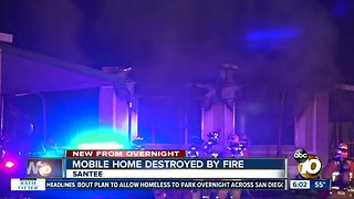 Woman dies in Santee mobile home fire