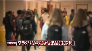 Parents, students adjust to Michigan school shutdowns