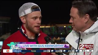 Gus Kenworthy interviews at Winter Olympics