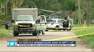 32-year-old woman found dead in empty lot - Video