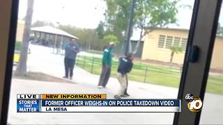 Former officer weighs in on takedown video - Video