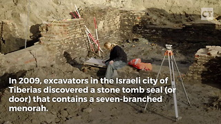 Ancient Tomb Door Contains Jewish Imagery - Video