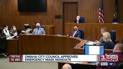 Omaha City Council approves emergency mask mandate