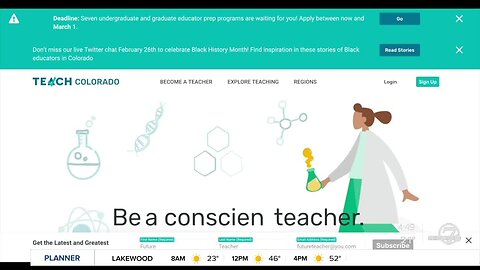 Colorado trying to receruit more people to become teachers