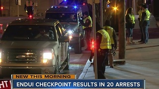 TPD: 20 arrested during DUI checkpoint - Video