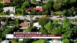 Hazmat situation in West Palm Beach - Video
