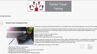 Participant shares experience with free contact tracing course