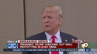 President Trump delivers remarks at Otay Mesa border wall prototypes