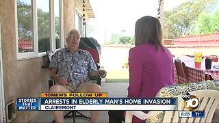 Police search for third attacker in elderly man's home invasion