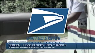 Federal judge blocks USPS changes